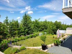 Beautiful tiered back yard