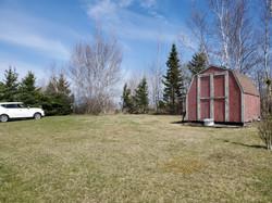 Big backyard with shed