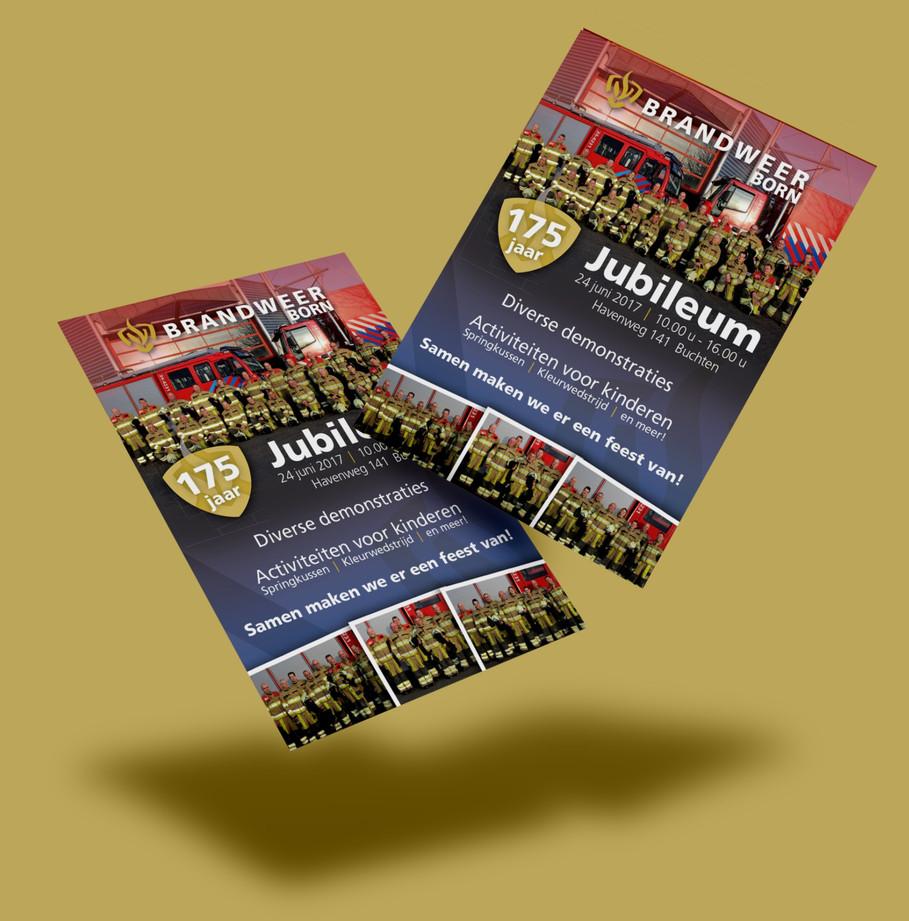 Posters en flyers Brandweer Born
