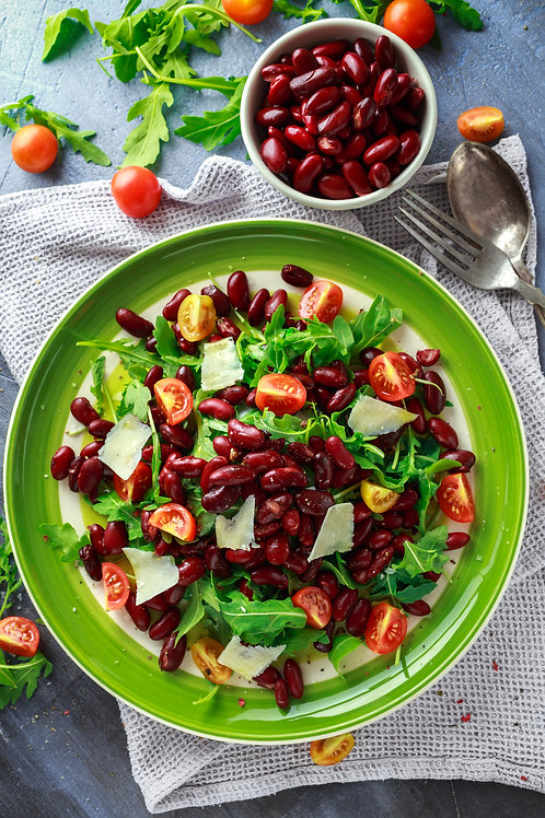 Grande salade haricots rouges et patate douce