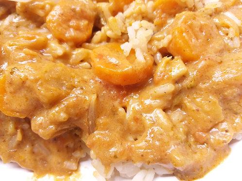 Mafé vegan avec riz blanc (pour 1 personne)