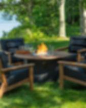 Seaside Casual Furniture Aura Fire Table DEX Club Chair