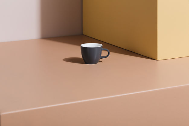 Our Demitasse cup in Dolphin Grey