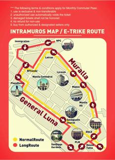 E-Trike route map