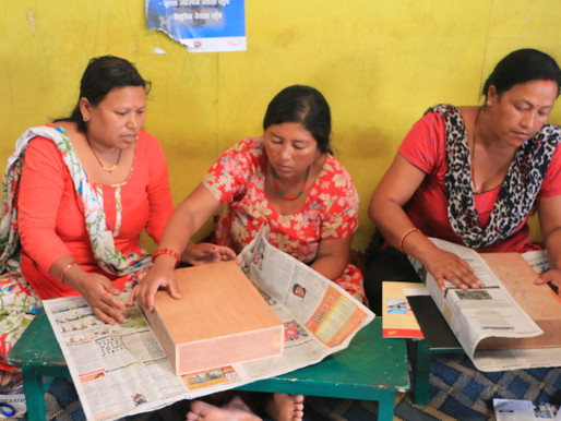 The Beginning of MoWaRe: from Upcycling of Newspaper to  Women Empowerment