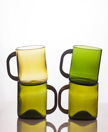 Upcycled Wine Bottle - Set of Cups