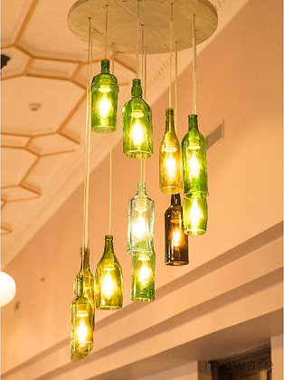 Upcycled Glass Bottle - Chandelier
