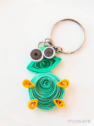 Upcycled Paper Keyring