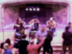 Amber Fire Ceilidh Band at Dartington Hall, Devon