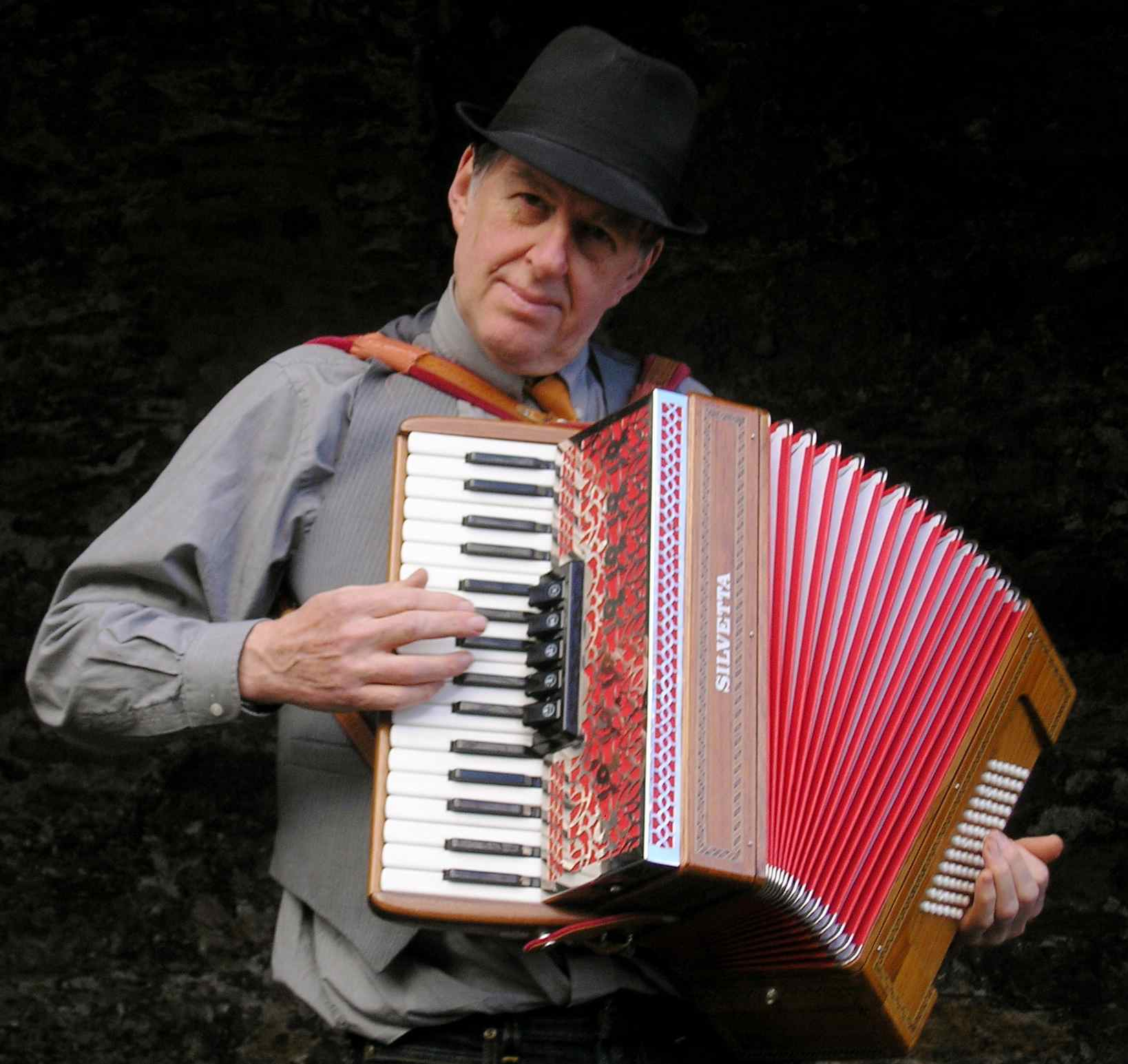 Basil Bunelik, accordionist in Devon