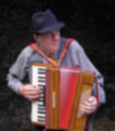 Basil Bunelik, accordionist in Devon