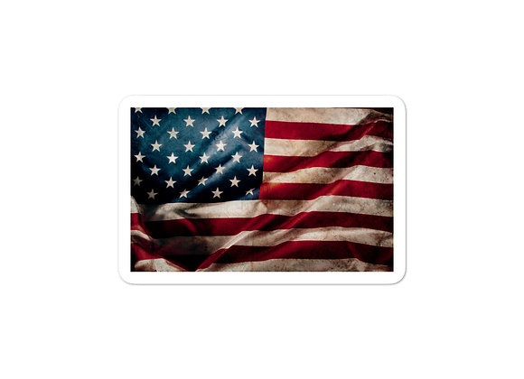 American Flag Waving - Sticker