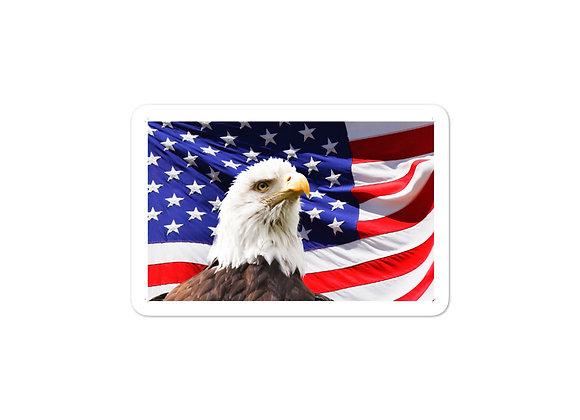 American Eagle Flag -Sticker