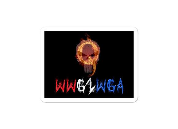 WWG1WGA Q Patriot - Red White & Blue Sticker