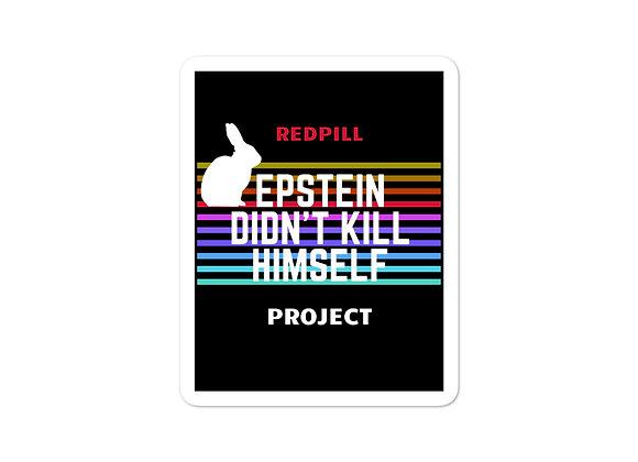 Epstein Redpill Sticker Sticker