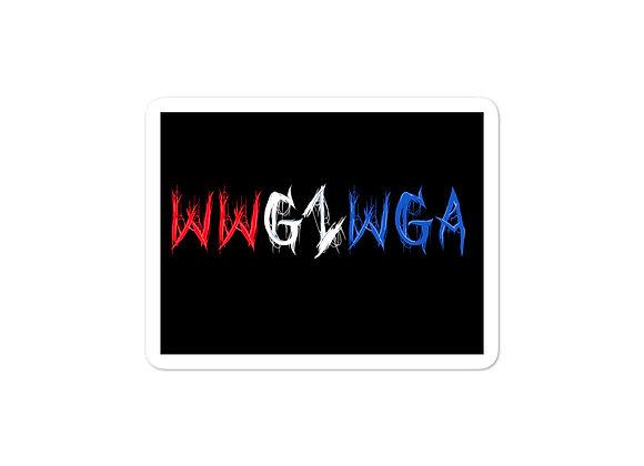 WWG1WGA Sticker Red White & Blue