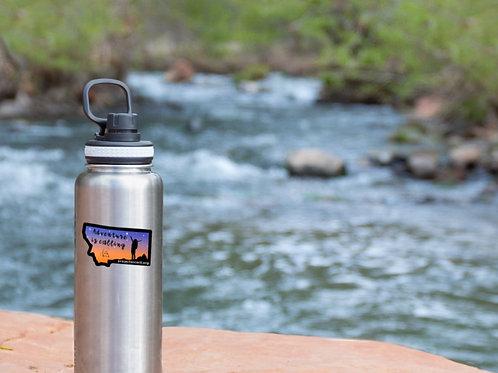 Adventure is Calling Water Bottle Sticker