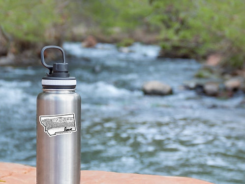 Montana Love Water Bottle Sticker