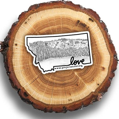 Montana Love Blossom Lake Sketch