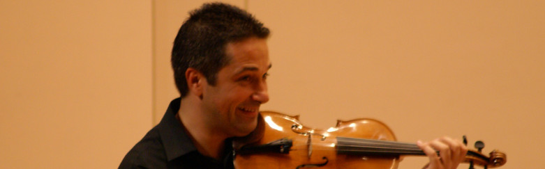 On the violin