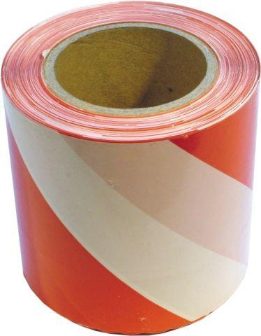 Лента  50мм х 200м бело-красная неклейкая