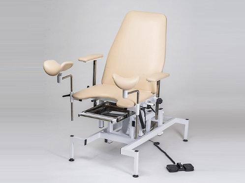 Кресло смотровое гинекологическое с электропривод (пульт ручной, кож.зам.)