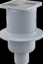 Сливной трап 105 × 105/50, подводка – прямая