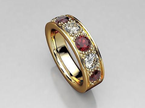 18ct Yellow Gold Ruby/Diamond eternity