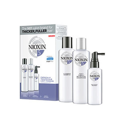 NIOXIN 3-Part System 5 Trial Kit for for chemically-treated hair with light thin