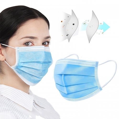 Disposable 3Ply Face Masks CE Approved