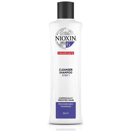 NIOXIN 3-Part System 6 Cleanser Shampoo for Chemically Treated Hair with Progres