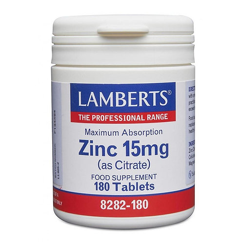 Lamberts Health Care Zinc 15mg 90 tablets