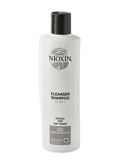 NIOXIN 3-Part System 1 Cleanser Shampoo for Natural Hair with Light Thinning 300