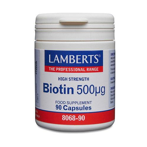 Lamberts Health Care Biotin 500µg 90 Capsules