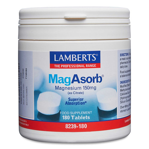 Lamberts Health Care MagAsorb® 180 Tablets