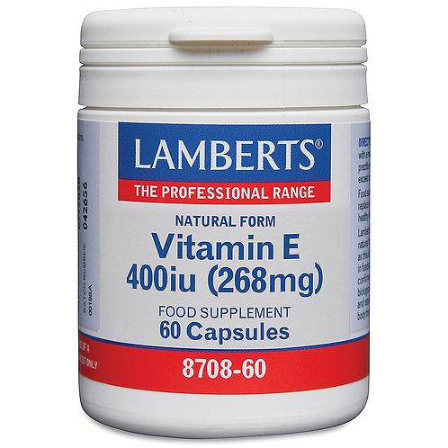lamberts Health Care Natural Vitamin E 400iu