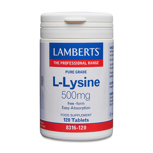 Lamberts Health Care L-Lysine 500mg 120 Tablets