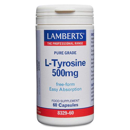 Lamberts Health Care L-Tyrosine 500mg 60 Capsules