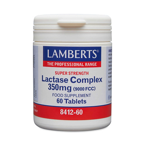 Lamberts Health Care Lactase Complex 350mg (9000FCC) 60 Tablets