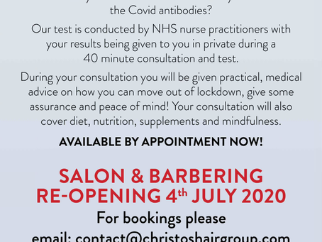 Covid Antibody Testing Available in Clinic