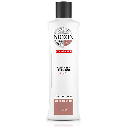 NIOXIN 3-Part System 3 Cleanser Shampoo for Coloured Hair with Light Thinning 30