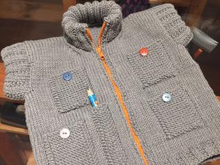 Zipped Vest para um menininho pra lá de especial