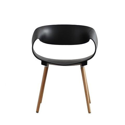 CLAIRE DINNING CHAIR BLACK 24X22X29IN