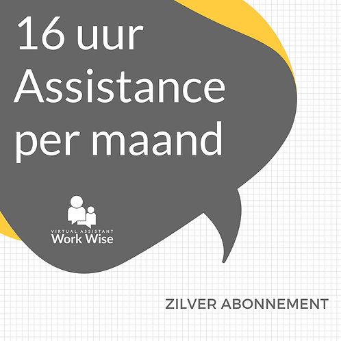 Zilver Abonnement. 16 uur Assistance per maand