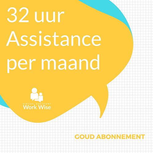 Goud Abonnement. 32 uur Assistance per maand