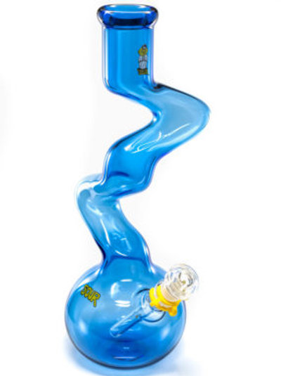 """15"""" Fat Twist Blue Water Pipe by Sour Glass"""