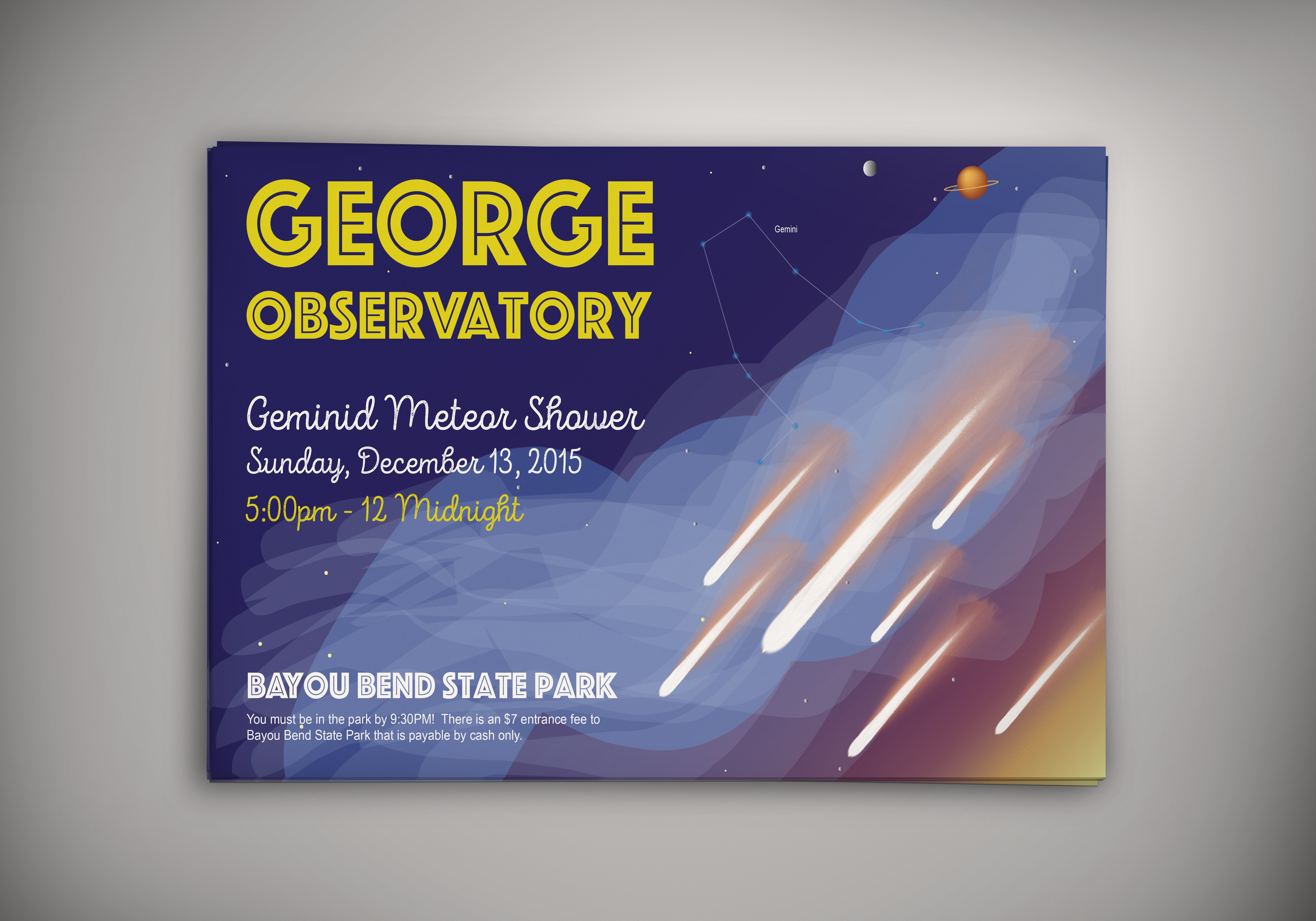 George Observatory Poster