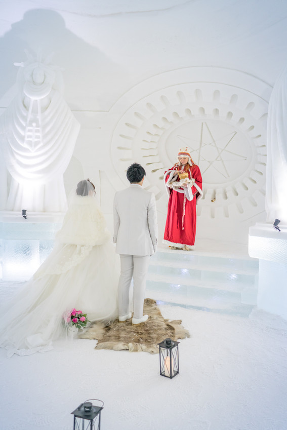 Weddings snow Village