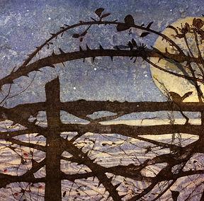 A Winter's Tale. Rachel Sargent. Linocut