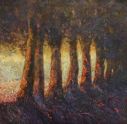 The line of trees